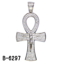 Newest Design 925 Sterling Silver Micro Setting Cross Pendant.