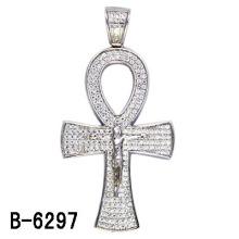 Новый Дизайн Серебро 925 Пробы Серебро Микро Настройка Кулон Крест.