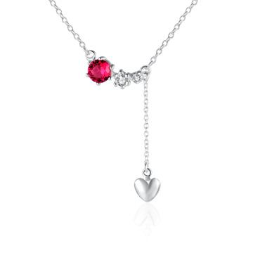 2017 Heiße Verkaufs-Zircon-Herz-Form-hängende Halsketten-Sterlingsilber-Halskette Schöne Schmucksachen für Frauen