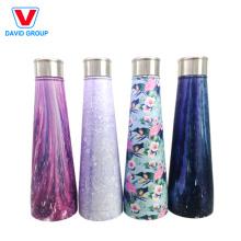 Neues Art-Muster färbt im Freien kundenspezifischen Logo-Druck Isoliervakuume-Edelstahl-Flaschen-Flasche