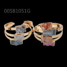 moda charme esterlina pulseira de cristal natural claro com atacado melhor preço
