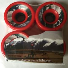 Alto rebote Longboard de poliuretano Deslizamiento de patines Rueda