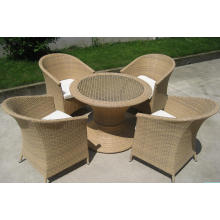Aluminio Bistro comedor conjunto sillas de mimbre al aire libre