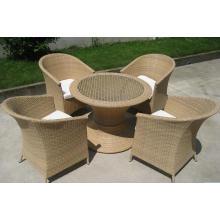 Rotin extérieur Aluminium Bistro chaises Set repas