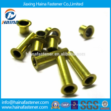 In Stock High Quality DIN 7340 Carbon Steel Tubular rivets made from tube with zinc plated