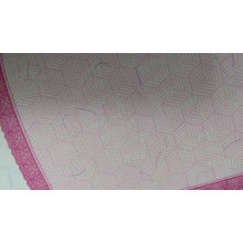 Custom printed embossing hot foil hologram anti-counterfeiting watermark paper security paper with line