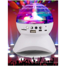 Áudio sem fio do diodo emissor de luz de Bluetooth, oradores coloridos das luzes, mini áudio