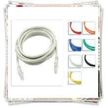 Blanco de la cuerda de remiendo del CAT 5e del CABLE del remiendo de la RED de la COMPUTADORA de la alta calidad 5M