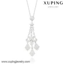 32063-xuping luxury fashion jewelry tassel necklace pendant bead beaded fringe turkish