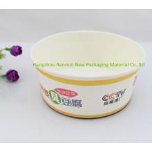 Venta al por mayor de PLA lirado papel alimenticio contenedor