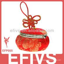 Espejo antiguo rojo afortunado corazón joyas caja de regalo al por mayor