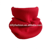 Unisex solid color winter warm cashmere snood scarf