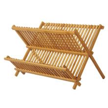 Best quality and factory for Bamboo Soap Dish Holder Foldable Bamboo Dish Draining Rack in 2-Tier export to Lao People's Democratic Republic Importers