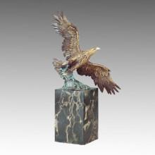 Tier Messing Statue Eagle Flying Decor Bronze Skulptur Tpal-292