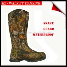 Camoflage botas de caça à prova d'água com guarda de cobra