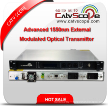 Fournisseur professionnel High Performance CATV 1550nm Advanced External Modulated Optical Laser Transmitter