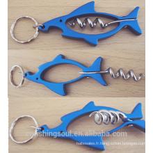 FSOB003_2 Ouvreur de bouteille en métal cadeau d'équipement de pêche pour l'ouvreur de bouteille de poisson de pêcheur