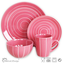 Красочный 16PCS керамический набор столовых посуды