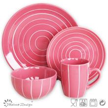 Juego de cena de cerámica coloridos de la gres 16PCS