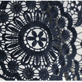 black chemical embroidery lace fabric