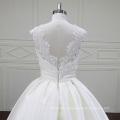 Fantasia vestido de noiva linda Lace chão comprimento Mikado
