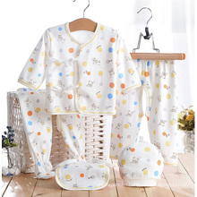 Cotton Printed Newborn Baby Infant Apparel 5PCS
