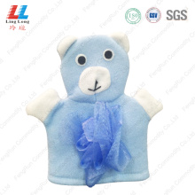 Fiber children shower bath gloves
