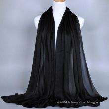 Écharpe Femmes Hijab Muslim Silk Touch Poly Satin Georgette Dubai Hijab