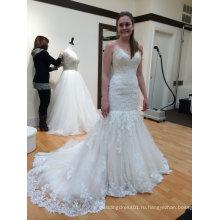 Fit и вспышки свадебное платье