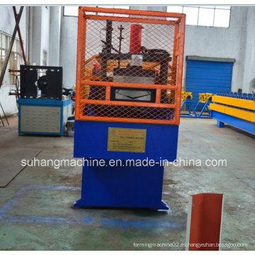 Color revestido de acero o aluminio Roof Valley Gutter rollo que forma la máquina