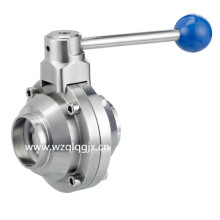 3A Sanitary Stainless Steel Welded Butterfly-Type Ball Valve