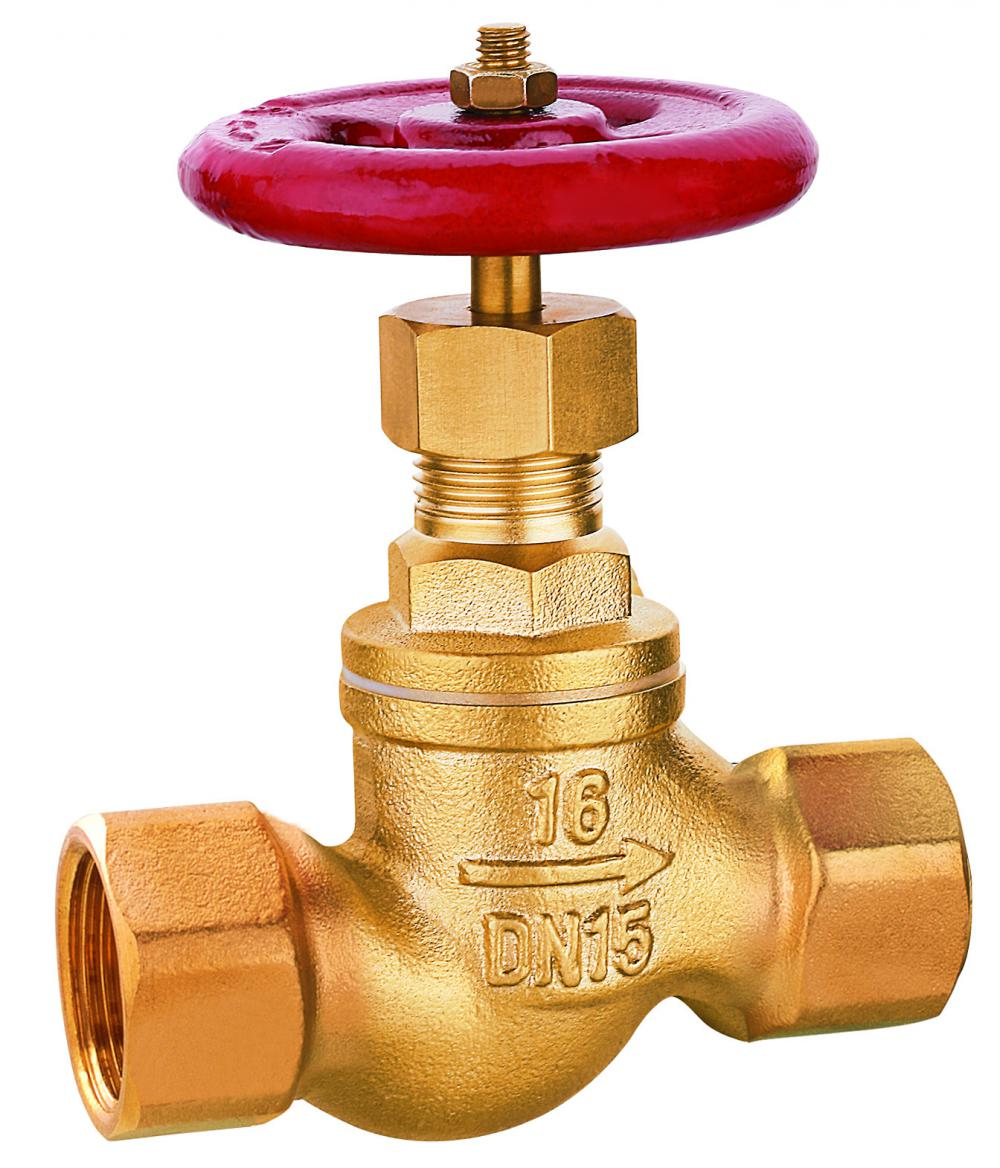 335-336 brass stop valve with smooth body