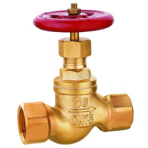 brass stop valve with smooth body