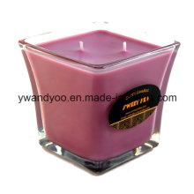 Романтические ароматические ароматические свечи в ясный стеклянный Опарник