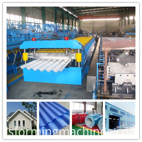 galvanized roof panel roll forming machine