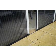 Puertas retráctiles plisadas de la pantalla del insecto de la fibra de vidrio
