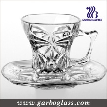 Glass Tea Cup & Saucer Set (TZ-GB09D1204CB)