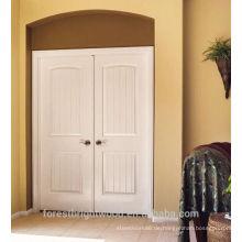 weiß grundierte Doppel-HDF-Tür mit 3mm HDF-Türhaut