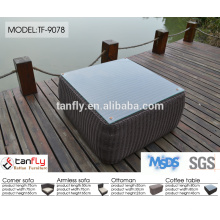 coverd with rattan l shaped sofa dimensions