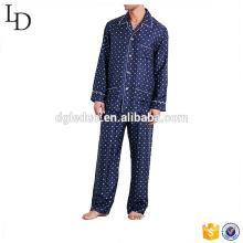 Pijama dos homens confortáveis 100% pijama de seda por atacado projetar seu próprio pijama