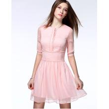 2016 vestido de la señora de la gasa del verano de la venta al por mayor de alta calidad del verano vestido