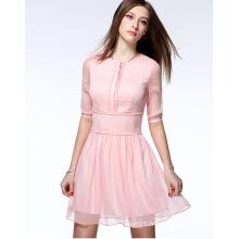 2016 Haute Qualité En Gros D'été En Mousseline de Soie Femmes Dress Lady Dress