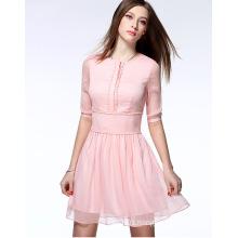 2016 High Quality Wholesale Summer Chiffon Women Dress Lady Dress