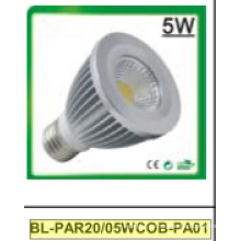Foco LED 5W regulable / no regulable PAR20 COB