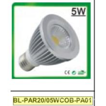 5 Вт затемнения/не Затемняемый par20 cob светодиодный Прожектор