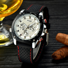 MCE branded sports men automatic silicone watch