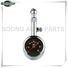 Válvula de liberação de ar de chapeamento de cromo Dial Medidor de pneu de metal