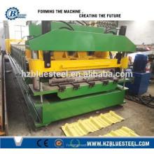Eisen glasiert Dachdecker Fliesen Blatt Kalt Rolling Forming Machine, Metall Stahl Schritt Dachziegel Roll Forming Machine