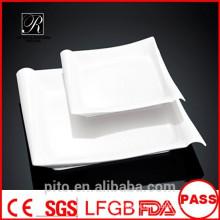 P & T Keramik Fabrik Porzellan Platten, quadratische Platten, Teller