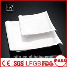 P & T керамика завод фарфоровые тарелки, квадратные тарелки, обеденные тарелки